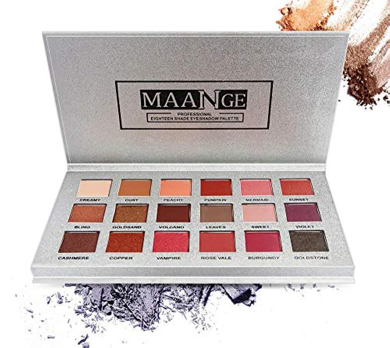 百科事典薄めるメディックNi Yom Thai shop 18 Color Shimmer Glitter Eye Shadow Powder Matt Eyeshadow Cosmetic Makeup brochas maquillaje...