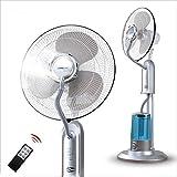 YX SHOP 電気ファンフロアタイプ冷たいファンホーム静かな移動ヘッドファンプラス水冷却と冷却蚊忌避剤霧化ファン (色 : 2#)