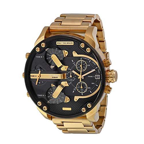 7dd0a7351d DIESEL 【ディーゼル】クロノグラフ GOLD&BLACK 腕時計 メンズ 【並行輸入品】DZ7333の