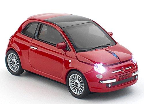 クリックカーマウス FIAT500 NEW Red 無線電池式