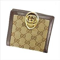 グッチ GUCCI Wホック財布 二つ折り財布 男女兼用 224226 GGキャンバス 中古 Y4702