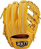 ZETT(ゼット) 硬式野球 グラブ (グローブ) プロステイタス セカンド・ショート用 右投げ用 トゥルーイエロー (5400) サイズ:2 日本製 専用グラブ袋付き BPROG441