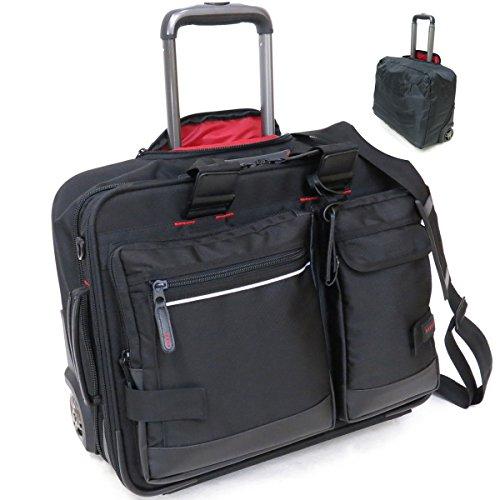 (バジェックス) BAGGEX 23-5580 ビジネスキャリーバッグ 機内持込可能 A3 横型 2輪キャリー 防犯機能付き・レインカバー付き