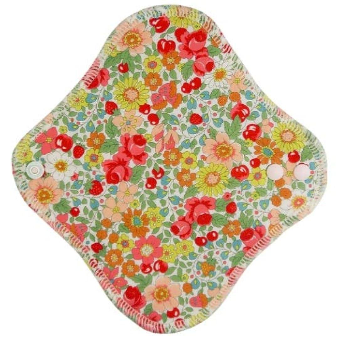 ホバー大使不平を言うfuwako 幸せの布ナプキン ライナー ブロード 花赤