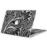 MacBook Pro 13inch 専用スキンシール マックブック 13inch 13インチ Mac Book Pro マックブック プロ ノートブック ノートパソコン カバー ケース フィルム ステッカー アクセサリー 保護 ジャンル クール 花 フラワー 黒 ブラック 模様 007829