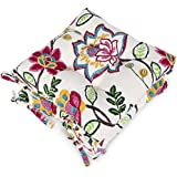 Shinnwa Kitchen Dining Room Chair Pads Cushions with Ties [2 Pack] Patio Chair Seat Cushion - Canvas Graffiti Pattern