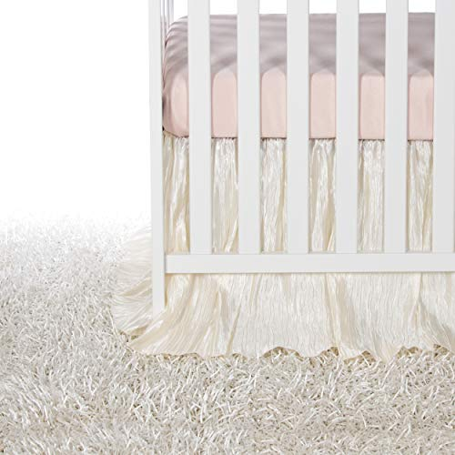 Crib Bedding Set Lil Princess by Glenna Jean | Baby Girl Nursery + Hand Crafted with Premium Quality Fabrics | Includes Quilt Sheet and Bed Skirt with Pink and Ivory Accents