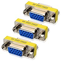 Cable Matters 3-Pack HD15 VGA Coupler/SVGA Coupler (VGA/SVGA Female to VGA/SVGA Female Coupler) [並行輸入品]