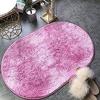 フロアマットドアマット、カーペットオーバル60 * 40センチメートル吸水滑り止め防水クイック乾燥漸進的変化世帯,ピンク