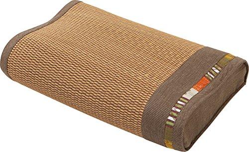 大島屋 イ草枕 イ草 快眠枕 与那国 い草 ブラウン 約44×30×10cm