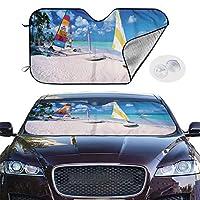 車用サンシェード 2サイズ 頼れる紫外線/日差しカット機能 かんたん取り付け/取り外し ドアポケットに 折り畳み式 S