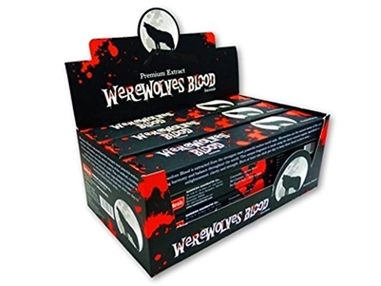 シャックル矩形うつグリーンツリーWerewolves Blood Masala Incenseボックス12のパック