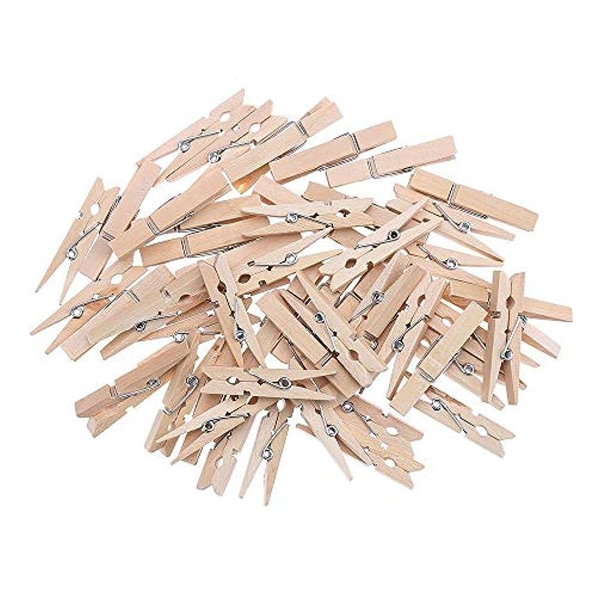 の間で光サンダーPichidr 木製ピンチ 7.2cm 洗濯バサミ ロスピン 天然の木色 洗濯小物ピンチ ウッドクリップ 写真用に 飾り付け用 20個