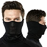 TSLA Unisex 1 or 2 Pack Lightweight Neck Gaiter, UPF 50+ Protection Face Mask for 4-season Outdoor Sports Windproof