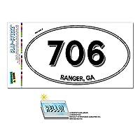 706 - レンジャー, GA - ジョージア - 楕円形市外局番ステッカー