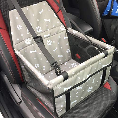 Cyc ペット用カーシート車用ペットキャリーバッグ 車載カバーペット用ドライブボックス 折畳み 水洗い可能 (グレー)