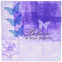 PS Inspirations - Vintage Purple Inspired Butterflies and Botanical Believe in Your Dreams - Mouse Pads