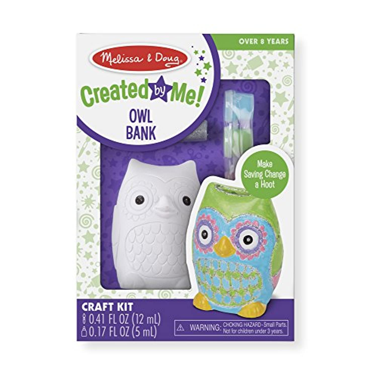 Melissa & Doug decorate-your-own Owl Bankクラフトキット