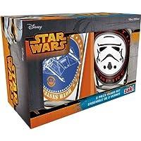 Zak Designs SWRD-R190 Star Wars Ep4 Glass Tumbler 2 Piece Gift Box, 300ml, Multicolor