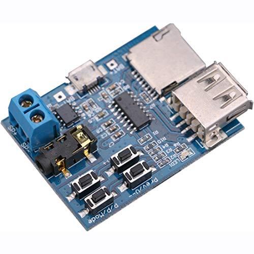 『HiLetgo 2個セット TFカード Uディスク Mp3デコーダ モジュール デコーダボード 無損失デコード 増幅器 [並行輸入品]』の3枚目の画像
