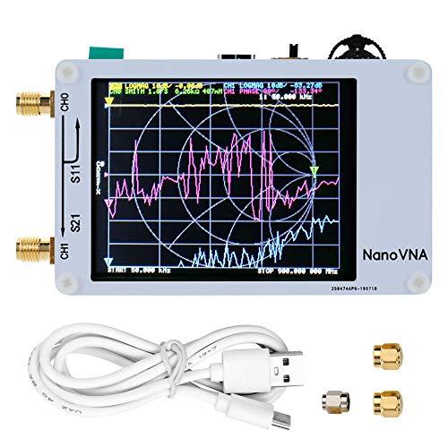 Kecheer ベクトルネットワークアナライザー DIY 50KHz-900MHz デジタルディスプレイ タッチスクリーン 短波MF HF VHF UHFアンテナアナライザー定在波