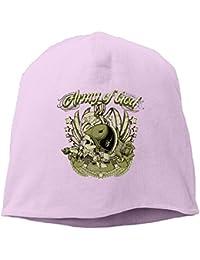 【Dera Princess】ユニセックス ニット帽 Army Of Godロゴ コットン ニットキャップ 帽子 オールシーズン 被れる