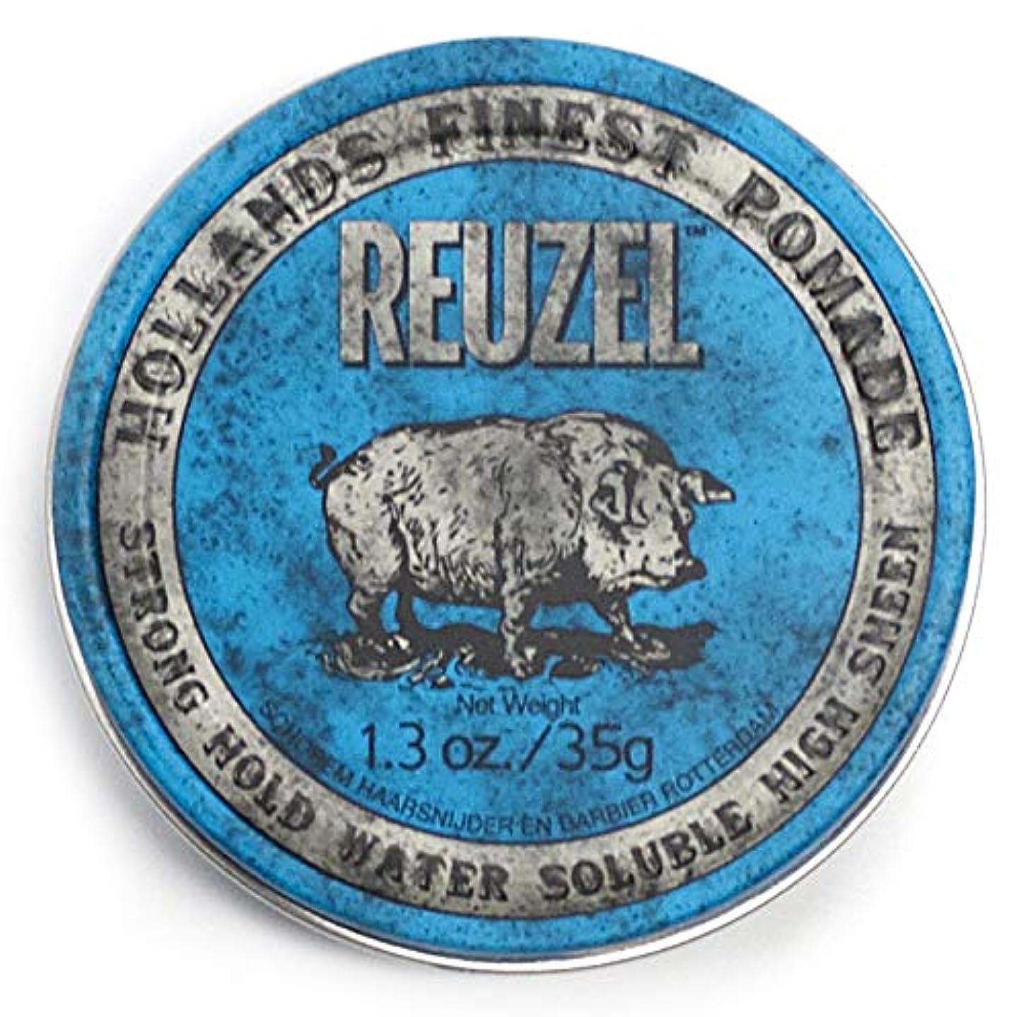 利点練習旅ルーゾー ブル ストロングホールド ハイシーン ポマード Reuzel Blue Strong Hold Water Soluble High Sheen Pomade 35 g [並行輸入品]
