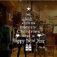 Zbzp 剥がせる 手紙クリスマスツリーPvcステッカー窓ガラスウォールステッカーメリークリスマスDiyアップリケリビングルーム装飾3Dウォールステッカー50×42センチ-Green