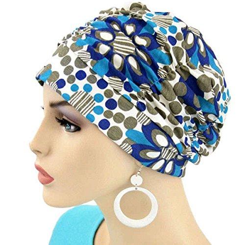 [抗癌藥物治療] [醫療帽子] [保健帽釘帽:藍色雛菊