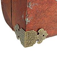 Wechaon 木製家具ボックスフィート装飾用12個コーナーブラケットプロテクター継手 アクセサリーツール