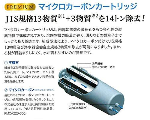日本トリム 交換用浄水カートリッジ 電解水素水整水器 トリムイオンH-2プレミアム用 プレミアムマイクロカーボンBM2プラスカートリッジ