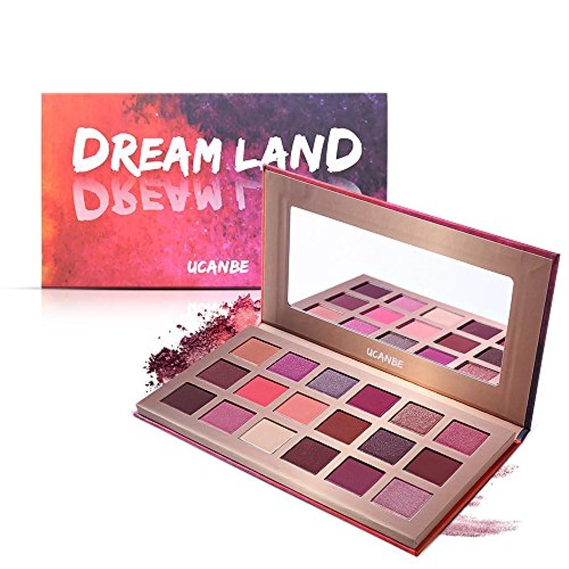 あたたかい文化バーターAkane アイシャドウパレット UCANBE Dream Land ドリームランド 魅力的 幻夢 チャーム 人気 長持ち 綺麗 マット つや消し ファッション おしゃれ 持ち便利 Eye Shadow (18色) STUB022