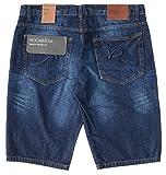 ROCAWEAR ロカウェア ハーフパンツ ショートパンツ デニム ウォッシュ加工 BAGGY (R00J9969ES) 32 MID-BLUE