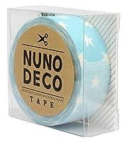 KAWAGUCHI(カワグチ) NUNO DECO TAPE ヌノデコテープ 1.5cm幅 1.2m巻 みずいろスター 11-857