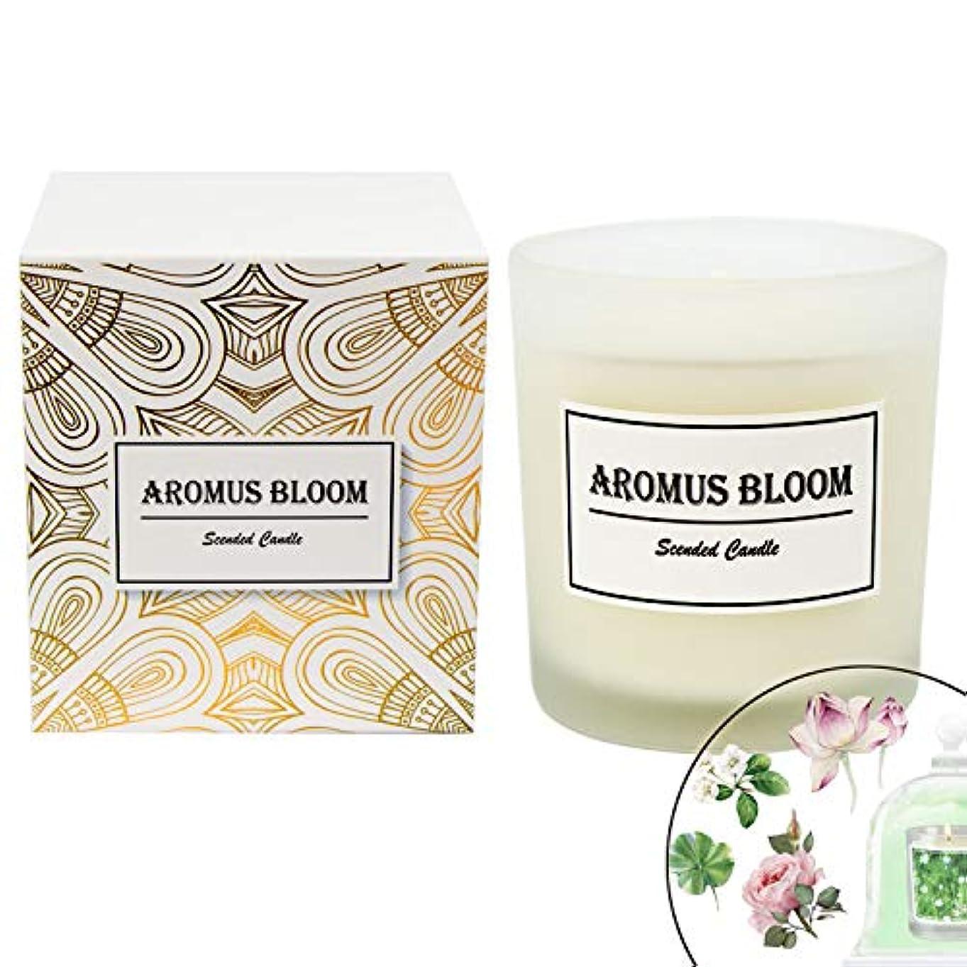 AromusBloom 香り付きキャンドル ギフト 天然エッセンシャルオイル 100% 環境に優しい大豆ワックス アロマセラピーキャンドル ギフトキャンドル レディース Green Lush B07D82D5S5