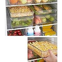 Guilty Gadgets®2パック - アクリル冷蔵庫オーガナイザー収納ホルダー冷蔵庫フルーツ野菜箱フタなしコンテナ - 30 x 20 x 5 cm - Lサイズ