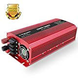 LVYUAN LED 定格1500W(最大3000W)インバーターDC(直流)12V 60Hz AC(交流)100V [ソーラーパネル、ソーラー発電、太陽光発電にぴったり!]外部ヒューズ×4、ACコンセント×2、USBソケット×2 日本語説明書付き! (12V)