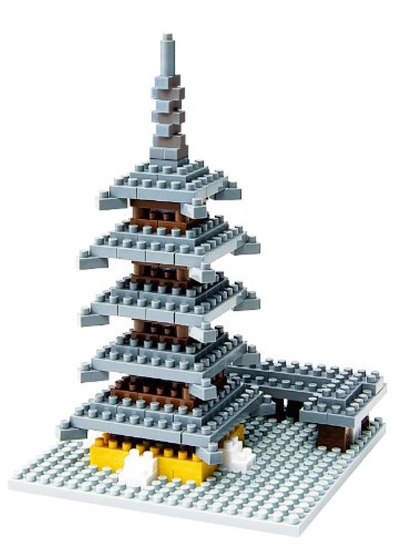 ナノブロック 古都奈良の五重塔