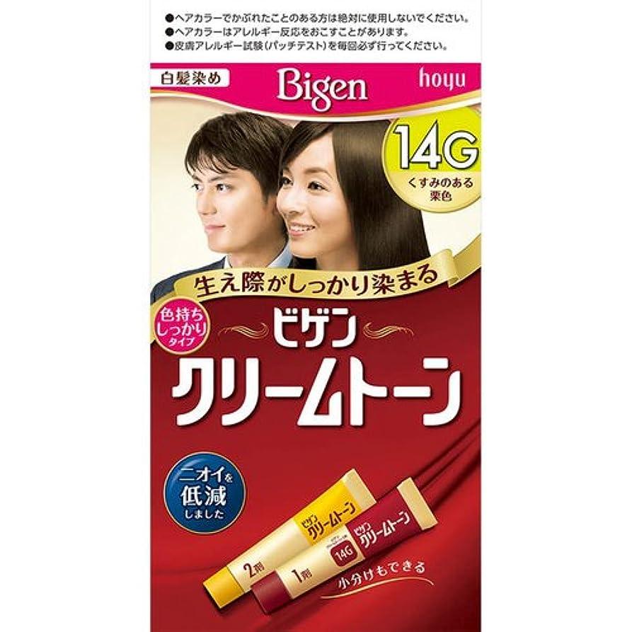 鼻第二に分離するビゲン クリームトーン 14G くすみのある栗色 40g+40g[医薬部外品]