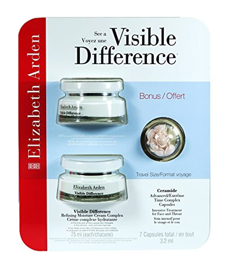リブインタフェース悪のElizabeth Arden Visible Difference Refining Moisture Cream Complex Double Value Pack (2 x 2.5oz) With BONUS Travel...