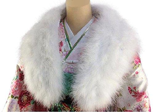 振袖・ドレスに フェザーストール ショール ホワイト