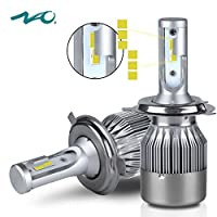 H4 LED Headlight Bulb,NAO Car LED Headlights 9003 HB2 Conversion Kit with Advanced LED Chip,72W 7600LM 6000K- 2 Yr Warranty [並行輸入品]