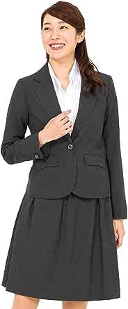 [アッドルージュ] スーツ レディース 洗える ジャケット フレアスカート 2点セット 春夏 秋冬【j5033】
