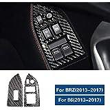車のインテリアカーボンファイバーウィンドウリフトボタン装飾フレームトリムオートステッカー、スバルBRZトヨタ86 2013-2020車のスタイリング