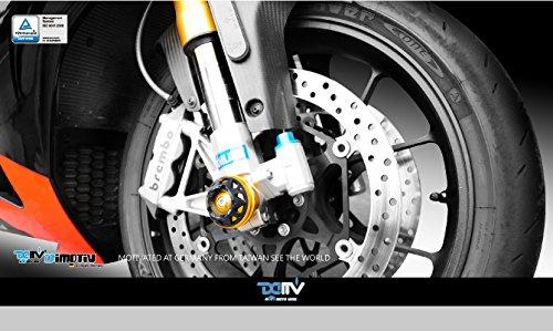 3D フロントアクスルスライダー(3D Front Axle Slider) APRILIA RSV4 09-15ゴールド APRILA RSV4 09-15/Shiver750 06-15/TUONO V4R 10-15 チタン