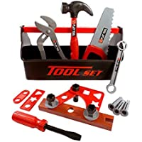 21 Piece Workshop Tool Box Toy Set for Kids by Liberty Imports [並行輸入品]