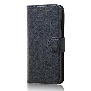 レイ・アウト iPhone7 ケース 手帳型 ケース シンプル マグネット (カード収納×3 / スタンド機能) ダークネイビー RT-P12ELC1/DN