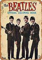 なまけ者雑貨屋 アメリカン 雑貨 ナンバープレート Beatles Coloring Book ヴィンテージ風 ライセンスプレート メタルプレート ブリキ 看板 アンティーク レトロ