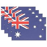 旅立の店 ランチョンマット オシャレ プレースマット 撥水 防汚  オーストラリアの旗 ポリエステルタイプ 滑り止め 優れた耐熱性 摩擦耐える 食卓飾り 上品な雰囲気 子供 家庭 対応 30.5X45CMX1