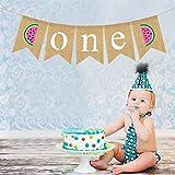 LDEMOMO 誕生日 飾り付け 1歳 誕生日 飾り ガーランド リネン スイカ パーティー飾り バナー ガーランド パーティー 小物